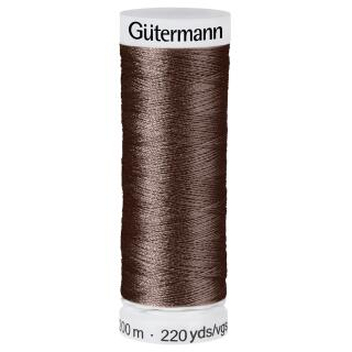 Nähfaden Brown 200m  100 % Polyester Gütermann