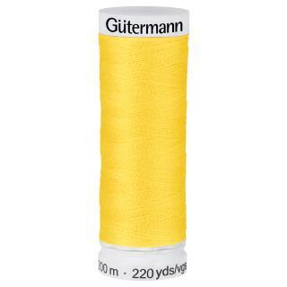 Nähfaden Sonnengelb 200m  100 % Polyester Gütermann