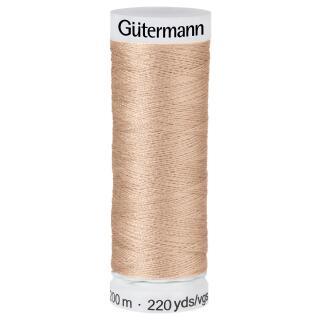 Nähfaden bisque 200m  100 % Polyester Gütermann