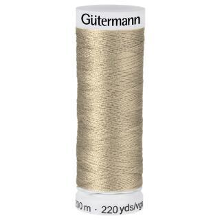 Nähfaden sand nass  200m  100 % Polyester Gütermann