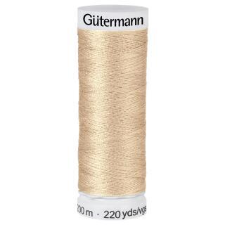 Nähfaden goldbeige 200m  100 % Polyester Gütermann