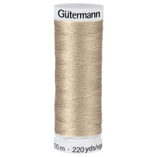 Nähfaden soft taupe200m  100 % Polyester Gütermann