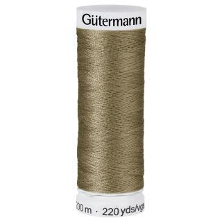 Nähfaden beige grün 200m  100 % Polyester Gütermann