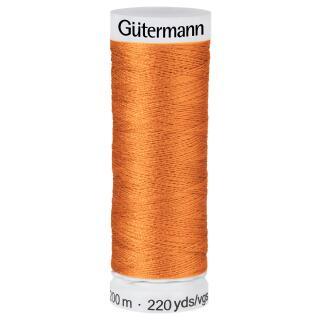 Nähfaden hell orange 200m  100 % Polyester Gütermann