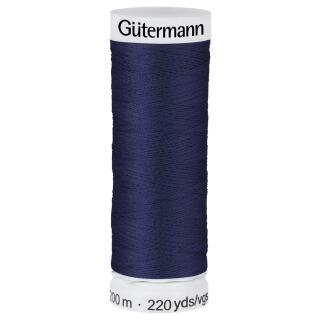 Nähfaden dunkel blau 200m  100 % Polyester Gütermann