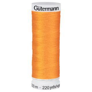 Nähfaden Orange 200m  100 % Polyester Gütermann