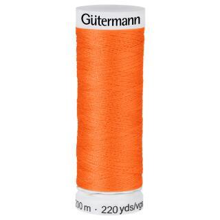 Nähfaden leuchtendes Orange 200m  100 % Polyester Gütermann