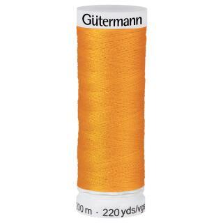 Nähfaden Kürbis 200m  100 % Polyester Gütermann