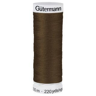 Nähfaden dunkle Schokolade 200m  100 % Polyester Gütermann