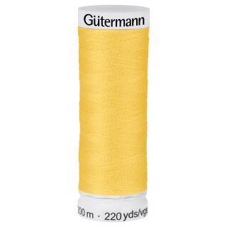 Nähfaden Currygelb 200m  100 % Polyester Gütermann