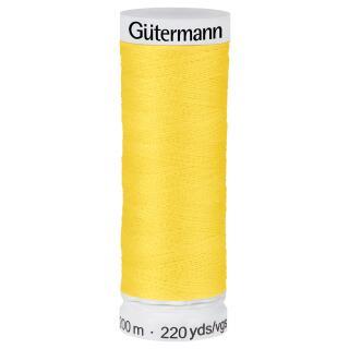 Nähfaden goldgelb 200m  100 % Polyester Gütermann