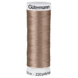 Nähfaden milch kaffee 200m  100 % Polyester Gütermann
