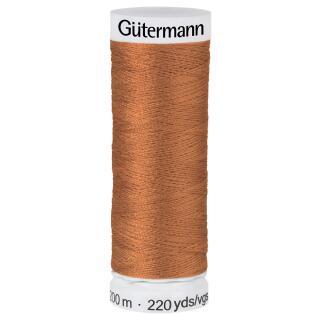 Nähfaden Orangebraun 200m  100 % Polyester Gütermann
