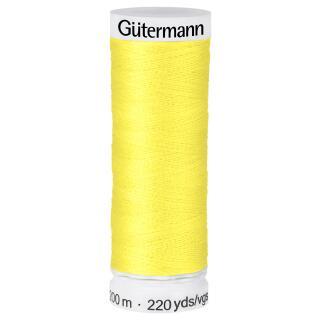 Nähfaden Zitronengelb 200m  100 % Polyester Gütermann