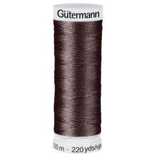 Nähfaden Zartbitter 200m  100 % Polyester Gütermann
