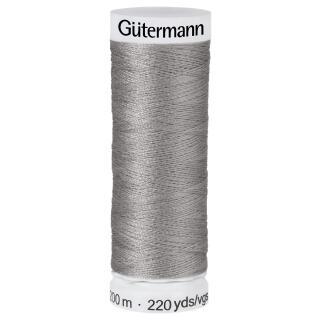 Nähfaden 200m mittel grau 100 % Polyester Gütermann
