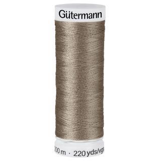 Nähfaden oliv/taupe 200m  100 % Polyester Gütermann
