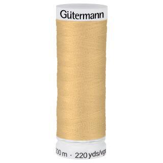 Nähfaden Gold  200m  100 % Polyester Gütermann