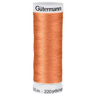 Nähfaden Apricot 200m  100 % Polyester Gütermann