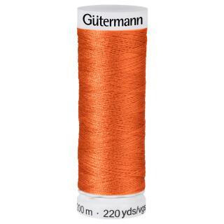 Nähfaden dunkel Orange 200m  100 % Polyester Gütermann