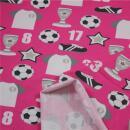 Jerseystoff Fußball pink