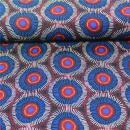 Viskosestoff blau Kreise