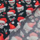 Weihnachtsstoff Totenköpfe
