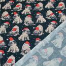 Weihnachtsstoff Franzosische Bulldoge