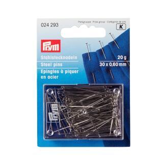 Stecknadeln ST 0,60 x 30 mm silberfarbig 100 % Stahl Prym