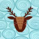 Stoffonkel Biojersey Woody Deer