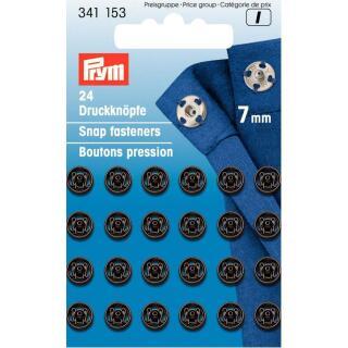 Annäh-Druckknöpfe rund 7 mm schwarz  Prym