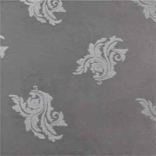 Tischdeckenstoff glänzend, silber mit Motiv