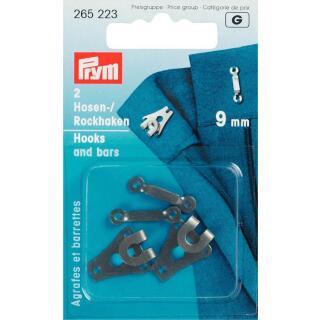 Hosen/Rockhaken und Stege ST 9 mm schwarz Prym