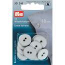 Wäscheknöpfe Leinen 18 mm weiß Prym