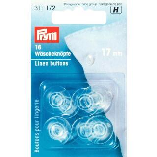 Wäscheknöpfe Kunststoff 17 mm transparent Prym