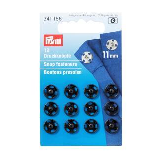 Annäh-Druckknöpfe MS 11 mm schwarz Prym