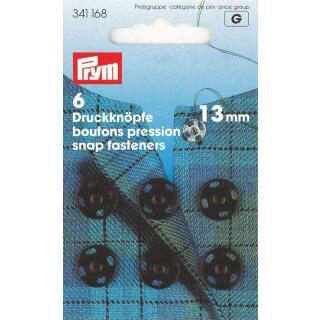 Annäh-Druckknöpfe MS 13 mm schwarz  Prym