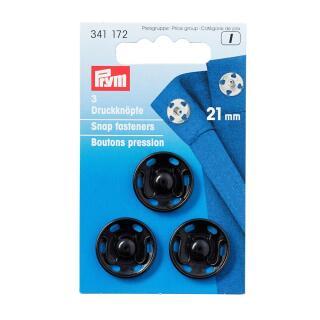 Annäh-Druckknöpfe MS 21 mm schwarz Prym
