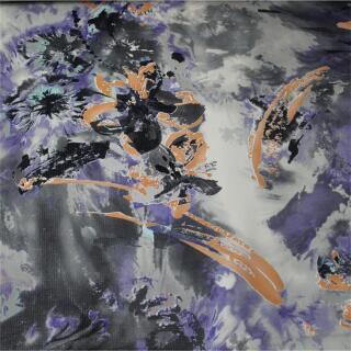 Kleiderstoff lila, grau