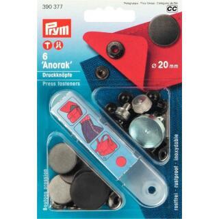NF-Druckknopf Anorak flach MS 20 mm brüniert matt Prym