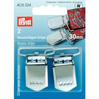 Hosenträger-Clips ST 30 mm silberfarbig  Prym