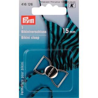 Bikini- und Gürtelverschlüsse 15mm silber Prym