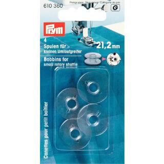 Nähmaschinen-Spulen klar Umlaufgreifer 21,2 mm Prym