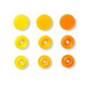 Druckknöpfe Color Snaps Love rund 12,4mm gelb orange Prym