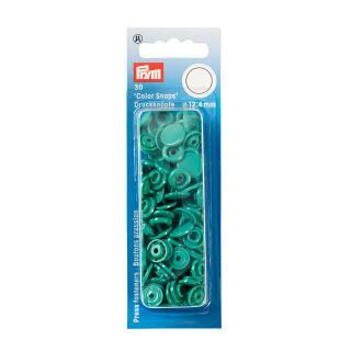 Nähfrei Druckknopfe Color Snaps rund 12,4mm grün Prym