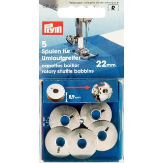 Nähmaschinen-Spulen für Umlaufgreifer 21,9 mm Metall Prym