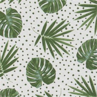 Dekostoff Canvas Palmenblätter