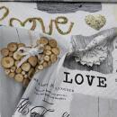 Dekostoff Holz, Herz, Love