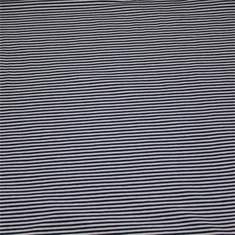 Jerseystoff Streifen Schwarz Weiss