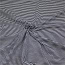 Jerseystoff Streifen schwarz-weiss